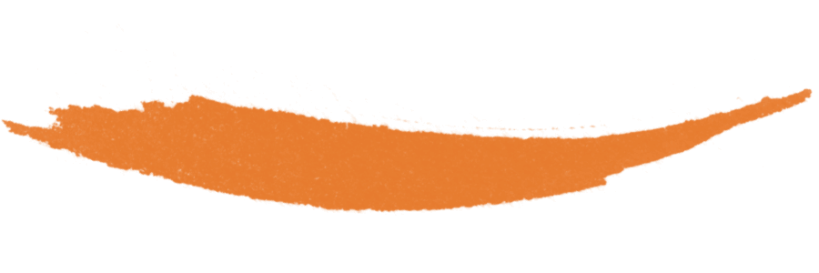 Cor laranja curvada para cima
