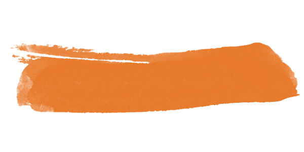 Cor laranja para cima